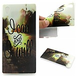 I Can And I Will Words Phrase Pattern 0.6mm Ultra-Thin Soft Case for Sony Xperia M4 Aqua
