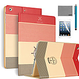 LEXY® Strip Anchor Pattern PU Leather Flip Stand Case with Screen Protector and Stylus for iPad Mini 4