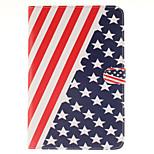 el diseño de la bandera de la PU cuero caso de cuerpo completo americano con el soporte y la tarjeta de la ranura para el mini ipad 4
