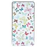 Butterfly Pattern Metal Frame with PC Material Back Cover for Sony Z3