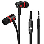 Langsdom JM26 In-ear Earbuds Microphone Volume Control Noodles Wire Cellphone Computer Headphone