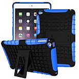 Miitary esercito plastica + gomma siliconica gel 2 in 1 caso duro antiurto con supporto per ipad mini 1/2/3 (colori assortiti)