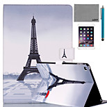LEXY® Red Umbrella Tower Pattern PU Leather Flip Stand Case with Screen Protector and Stylus for iPad Air/iPad 5