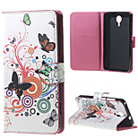 Butterfly Circles Wallet Leather Stand Case for BLU Life X8