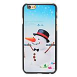 navidad zanahoria estilo muñeco de nieve nariz pattern pc contraportada dura para el iphone 6