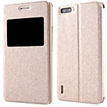 High Quality Silk Texture PU Leather Cover for Huawei Honor 6 Plus (Assorted Colors)