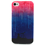 Look At The Stars Painting Pattern TPU Soft Case for iPhone 4/4S