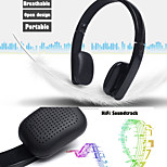 inalámbrico auriculares bluetooth auriculares estéreo de auriculares plegable auriculares manos libres con micrófono para 6puls iphone 6s