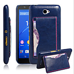 Crazy Horse Pattern Card Bracket For Sony Retro Protection Sony Xperia E4 Mobile Phone
