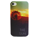 Dandelion Come The Sun Dreaming Sun Painting Pattern TPU Soft Case for iPhone 4/4S