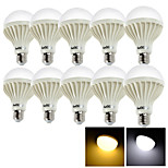 YouOKLight® 10PCS E27 9W 15*SMD5630 700LM 3000K/6000 Warm White/Cool White Light  LED Globe Bulbs (AC 220V)