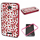 2-in-1 Hand Painted Rose Phrase Pattern TPU Back Cover + PC Bumper Shockproof Soft Case For Sony E4