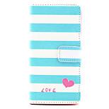 Love Pattern PU Leather Case with Money Holder Card Slot for BQ Aquaris E5
