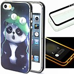 2-in-1 Panda Pattern TPU Back Cover with PC Bumper Shockproof Soft Case for iPhone 5/5S