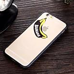plátano patrón TPU y caja del teléfono combo material de la PC para el iphone 6 / 6s