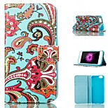 Red Flowers Design PU Full Body Case with Stand with Card Slot for iPhone 6 Plus/6s plus