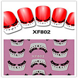 1PCS 3D Nail Stickers French Nail Stickers XF802
