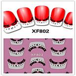 Autocolantes de Unhas 3D / Jóias de Unhas - Adorável / Punk - para Dedo - de PVC - com 1PCS - 62mm*52mm