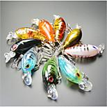 Manovelle 4 g Oncia mm pollice 9 pc Pesca di mare / Pesca dilettantistica / Barca da pesca , Colori assortiti Plastica dura