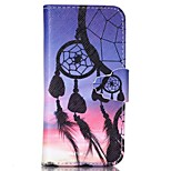 Dreamcatcher Pattern PU Leather Full Body Case with Card Slot and Stand for iPhone 5C
