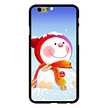 Snowman Pattern PC Hard Case for iPhone 6/6S