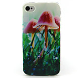 Mushroom Painting Pattern TPU Soft Case for iPhone 4/4S