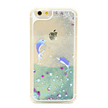 Dolphin Flow Sand PC Material Cell Phone Case for iPhone 6/6S