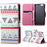 Magnetic Leather Stand Case Cover for iPhone 6/6S - Pink tribe