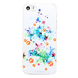 Christmas Style Chirstmas Tree Decoration Pattern Transparent PC Back Cover for iPhone 5/5S