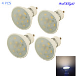 YouOKLight® 4PCS GU10 5W 10*SMD5730 Warm White Light Ceramic Spot Lights ,AC85-265V dipimpin lampu bohlam keramik