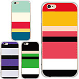 MAYCARI® Horizontal Stripes in Various Colors Transparent Soft TPU Back Case for iPhone 6/iphone 6S(Assorted Color)