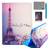 LEXY® Eiffel Tower In Night Pattern PU Leather Flip Stand Case with Screen Protector and Stylus for iPad Air 2/iPad 6
