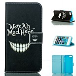 Laugh A Tooth  Design PU Full Body Case with Stand with Card Slot for iPhone 5/5S