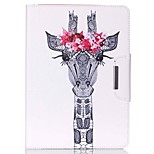 Deer Head Pattern PU Leather Full Body Case With Stand for iPad Air 2