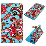 Red Flowers  Pattern PU Leather Case for Nokia Lumia 630