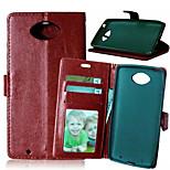 pu cartera de cuero caso de la alta calidad del teléfono móvil funda para Motorola MOTO xt1254 (color clasificado)