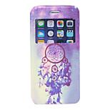 Purple Dream Catcher Pattern PU Window Full Body Case for iPhone 6
