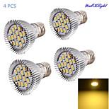 YouOKLight® 4PCS E27 7W 600lm 15*SMD5630 Warm White Spotlight,Lampu daya tinggi dipimpin sorotan (AC85~265V)