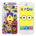 iPhone 6 Plus Case Minions Despicable Me Silicone Gel TPU material  Case Free with HD Screen Protector for iPhone 6+