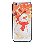 Christmas Style Snowman Snowing Pattern PC Hard Back Cover for iPhone 6