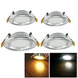 YouOKLight® 4PCS 5W 3000K/6000K 500lm Warm White/Cool White  LED Ceiling Light Lamp - Silver (AC110-120V/220-240V)