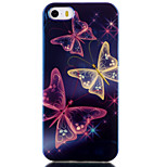 Butterfly Pattern Blu-ray IMD Cell Phone Case for iPhone 5/5S