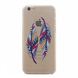 Color Double Feather Pattern Hard Back Case for iPhone 6