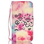 Asuka Pattern PU Leather Material Flip Card Phone Case for iPhone 5/5S