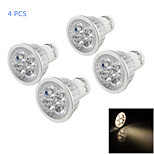 YouOKLight® 4PCS GU10 4W 350lm 3000K Warm White 5-LED SpotLight Bulb Lamp  (AC 220V)