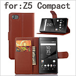 The Embossed Card Flip Bracket Protective Cover For SONY Xperia Z5 Compact Mobile Phone