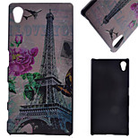 Eiffer Tower Pattern PC Hard Cover Case for Sony Xperia Z5