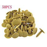 50pcs attaches de type poussoir de voiture retenue clips en plastique longueur rivet 35mm