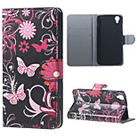 Butterfly Flowers Magnetic Leather Stand Cover for Alcatel OneTouch Idol 3 (4.7)