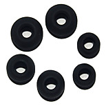 Replacement S M L Silicone In-ear Earphone Headphone Earbuds Caps - Black (3 Pairs)